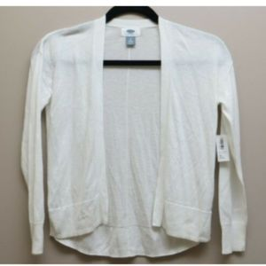 OLD NAVY Women's white 3/4 Sleeve sweater